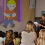 Deanna at an author school visit