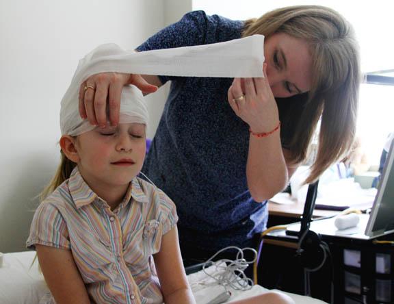 Gauze wrap for EEG